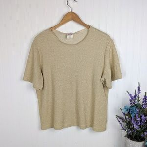 Vintage Graff Gold Metallic Top XL